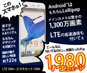 So-net LTE SIM+���ޥۥ��å�1980